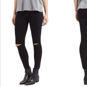 Top shop moto Leigh ripped skinny jeans